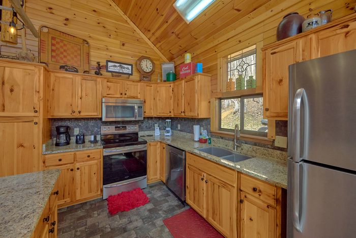 Fully Equipped Kitchen Wears Valley Cabin - Simply Incredible