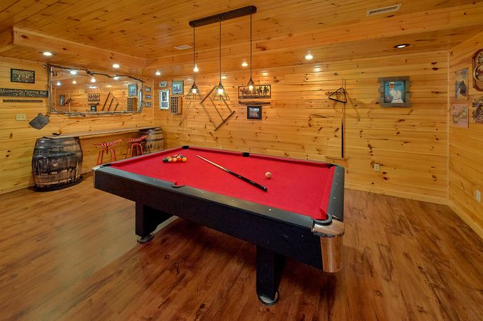 Lower Level 3rd Bedroom 3 Bedroom Cabin - Simply Incredible