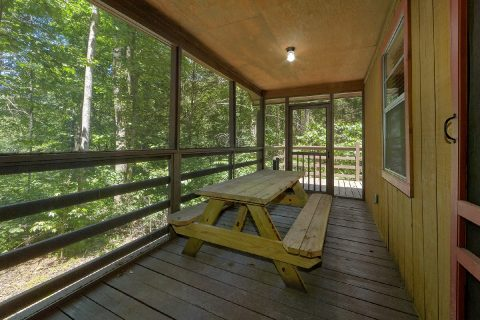 Covered Deck with Picnic Table - Sleepy Hollow