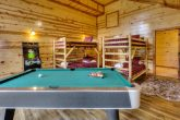 Game Room wit Pool Table and Bunk beds