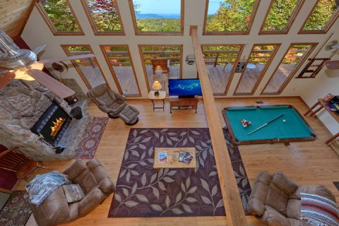 Private 3 bedroom cabin with Pool table and View - Smokeys Dream Views