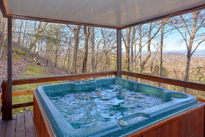 Rustic cabin with Private Hot Tub and Views - Smokeys Dream Views