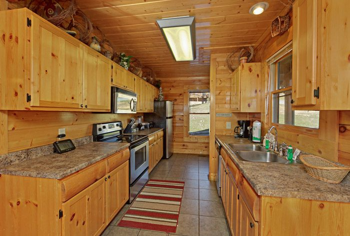 Cabin with Stainless Steel Kitchen Appliances - Smokies View
