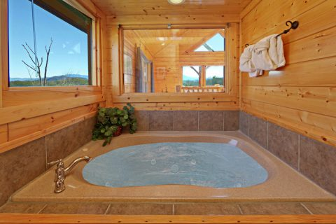 Jacuzzi Tub in Upstairs Game Room/Bunk Beds - Smokies View