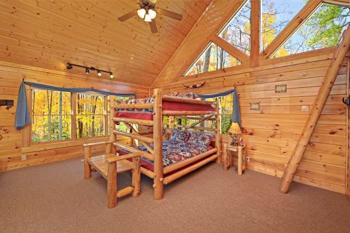 Queen Bunk Beds - Smokies View