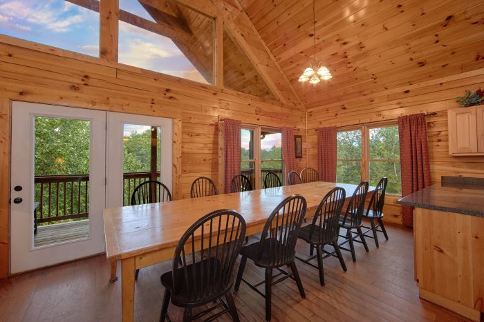 7 Bedroom Cabin with Spacious Dining Room for 14 - Smoky Mountain Lodge