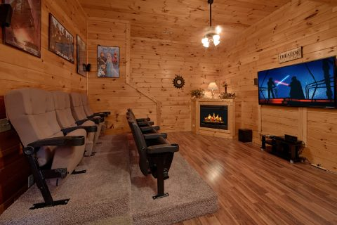 7 Bedroom Cabin with Theater Room and Fireplace - Smoky Mountain Lodge