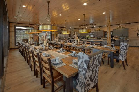Dining Room for 50 guests in 15 bedroom cabin - Smoky Mountain Masterpiece