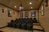 Theater Room in 15 bedroom luxury cabin rental