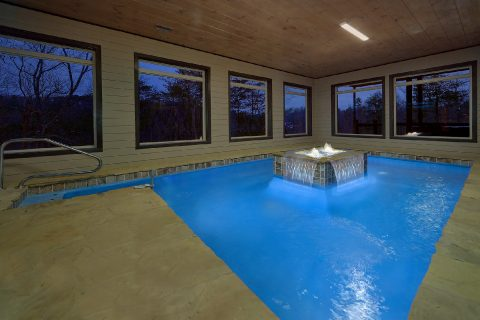 Private Pool with waterfall in 15 bedroom cabin - Smoky Mountain Masterpiece