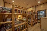 15 bedroom cabin with 7 sets of Queen Bunk Beds