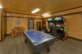 Air Hockey and Race Car Arcade games in cabin