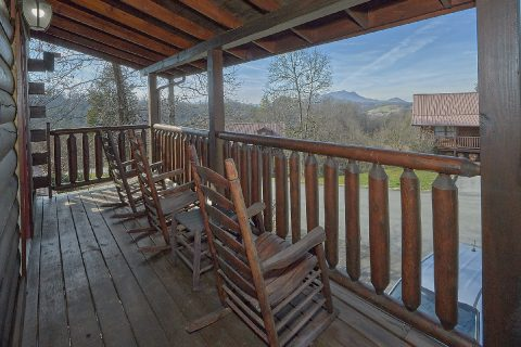 Covered Porch with Rocking Chairs - Smoky Mountain Retreat
