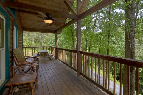Large Wrap Aeound Deck with Rocking Chairs - Smoky Mountain Time