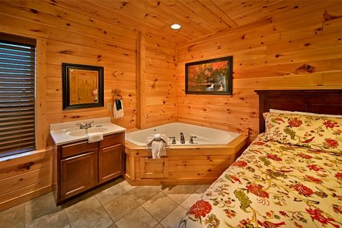 Cabin with Jacuzzi and private bath - Snuggled Inn