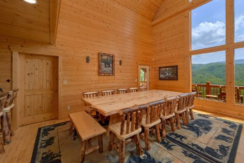 Dining Room for 18 in 5 bedroom cabin - Soaring Ridge Lodge