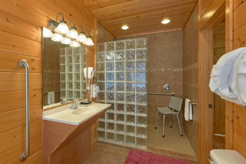 5 Bedroom cabin with handicap accessible shower - Soaring Ridge Lodge