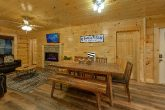 Cozy Dining Area in 4 Bedroom Cabin Sleeps 12