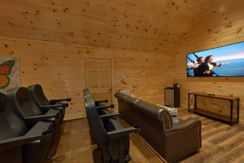 Theater Room in 4 bedroom Pigeon Forge Rental - Song of the South