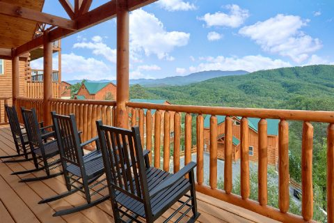 Luxury Cabin with Mountain Views and Pool - Splash Mountain Lodge