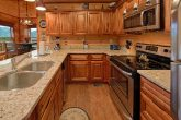 Fully Furnished Kitchen in Luxury Rental Cabin
