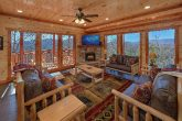 Spacious Living Room with Cable TV and Fireplace