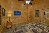 Cabin Master Bedroom with TV and Private Bath