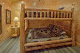 Indoor Pool cabin with queen bunk beds