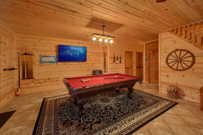 Pool Table Lower Level Game Room - Sugar Bear View