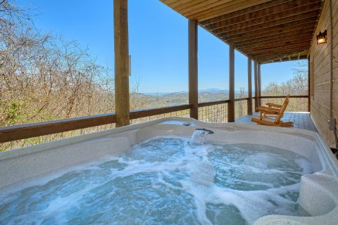 Private Hot Tub Day and Night Views - Sugar Bear View