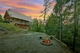 4 bedroom cabin rental with a fire pit
