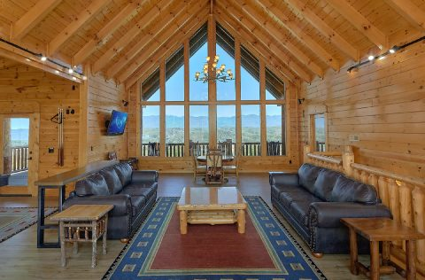Premium Cabin with Mountain Views from game room - Summit View Lodge