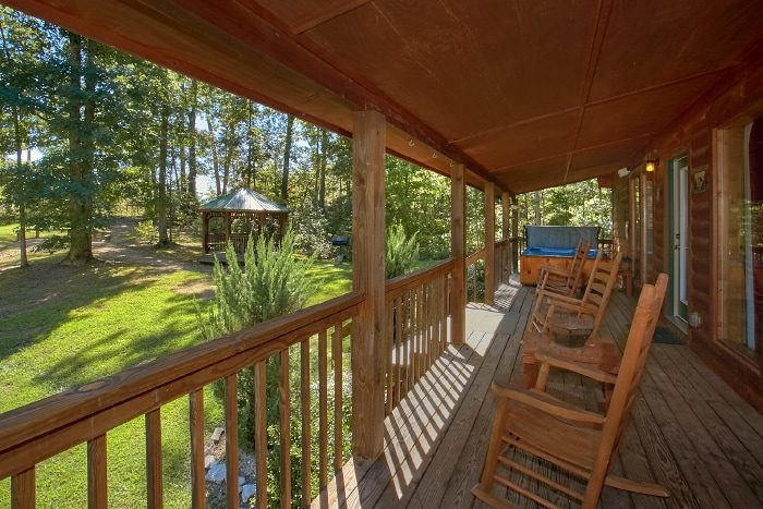 Cabin with Covered Deck and Rocking Chairs - Sweet Seclusion