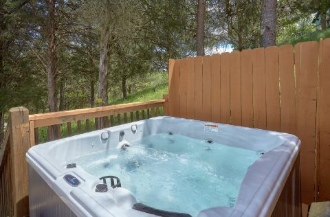 Private Hot Tub with Wooded View - Tennessee Tranquility