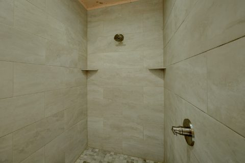 Master Bathroom with Large Shower - The Bear and Buck