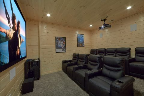 Theater Room with Seating for 9 - The Bear and Buck