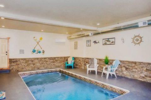 Private Indoor Pool in 11 bedroom cabin - The Big Lebowski