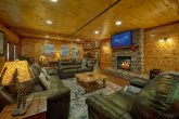 11 bedroom cabin game room with Pool table