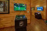 Queen bunk bedroom with bath in 11 bedroom cabin
