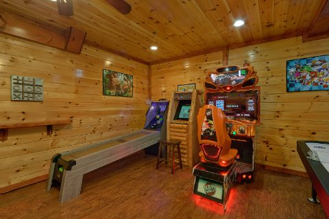 Cabin with Race Car arcade and Skee Ball game - The Big Lebowski
