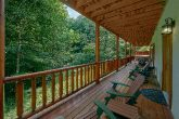 11 bedroom cabin with covered decks and hot tubs
