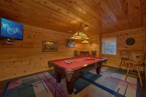 Large Game Room with Pool Table 4 Bedroom Cabin - The Gathering Place