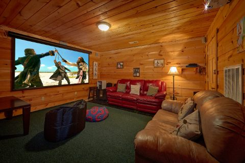 Theater Room Pigeon Forge 4 Bedroom Cabin - The Gathering Place