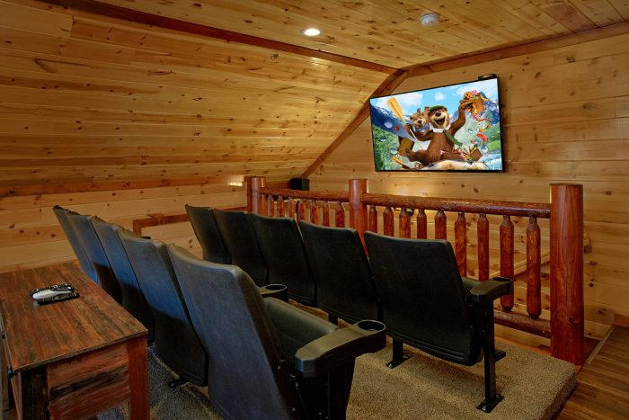 Loft Theater Room with Theater Seats - The Only TenISee
