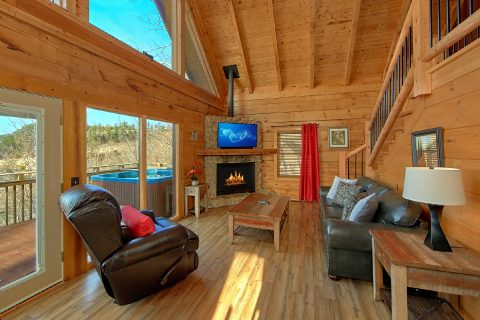 Spacious 1 Bedroom Cabin Sleeps 4 - The Overlook