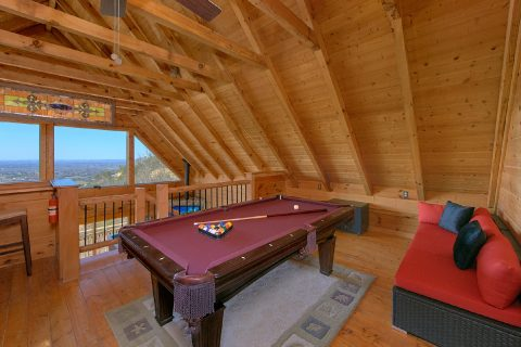 Loft Game Room with Pool Table - The Overlook