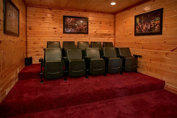Cabin Theater Room with Theater Seating for 10 - The Preserve