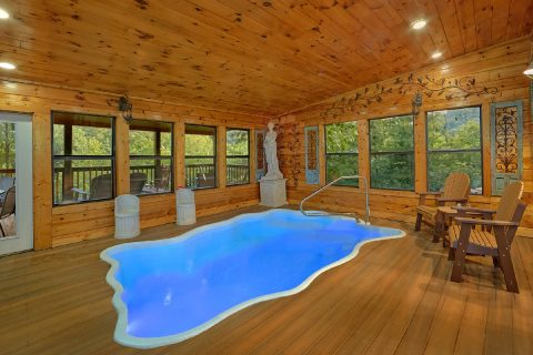 Indoor Pool 2 Bedroom 3 Bath Cabin Sleeps 6 - The Waterlog