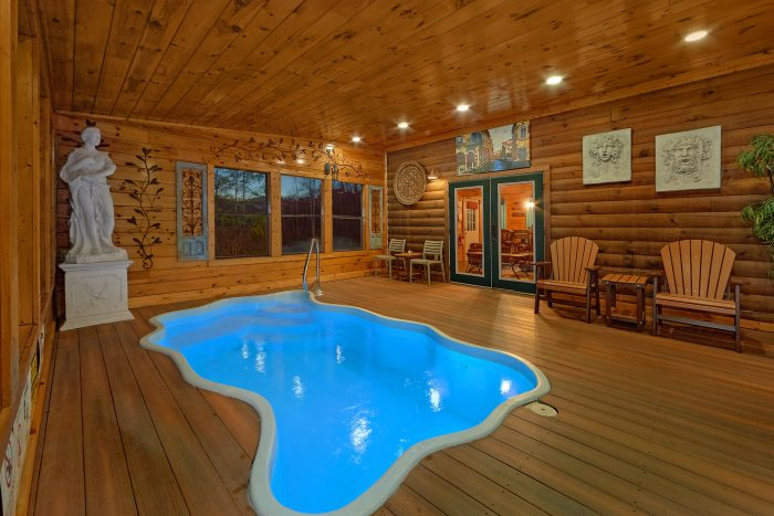 luxury pigeon forge cabin with view and indoor pool