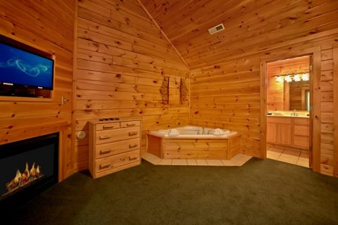 Cabin with 2 jacuzzis and 4 master suites - Timber Lodge